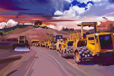 Earthmover Dawn Art Print by Brad Burns