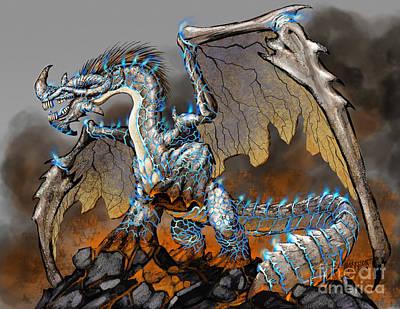 Dragon Digital Art - Earthquake Dragon by Stanley Morrison