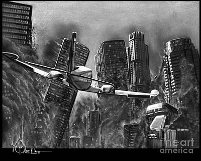Drawing - Earthquake by Murphy Elliott