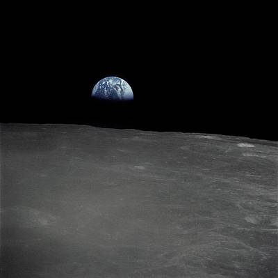 Discovery Photograph - Earthrise - Apollo 16 by Artistic Panda