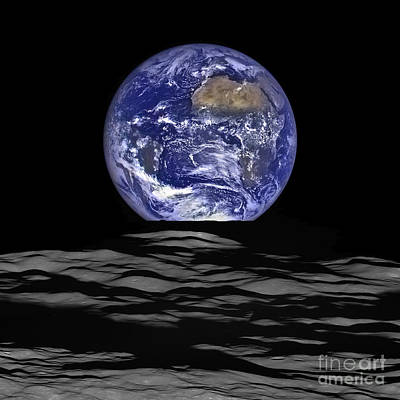 Photograph - Earthrise From Lro Spacecraft by Science Source