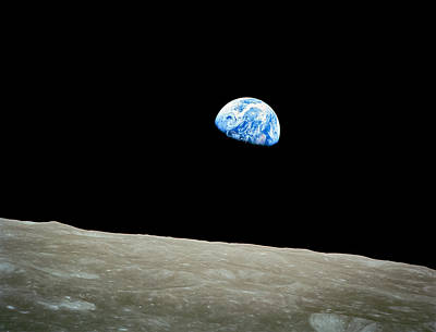 Earthrise Art Print by Space Art Pictures