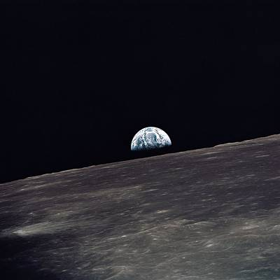 Photograph - Earthrise by Space Photography