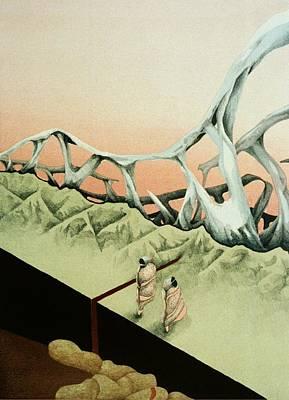 Earth's Fabric Torn Art Print by Tara Peterson
