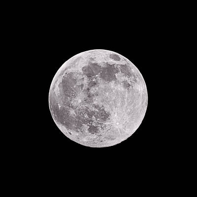 Full Moon Photograph - Earth's Moon by Steve Gadomski