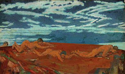 Arthur Bowen Davies Painting - Earths Throat Edge by Arthur Bowen Davies