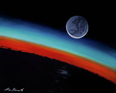 Painting - Earthshine by Ron Garan