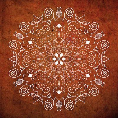 Digital Art - Earthtone Mandala by Patricia Lintner