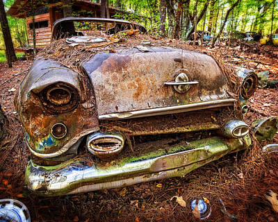Photograph - Earthtone Oldsmobile by Alan Raasch