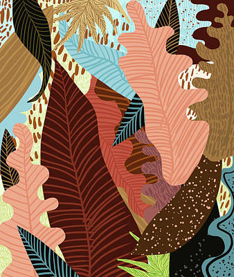 Digital Art - Earthy Forest by Uma Gokhale