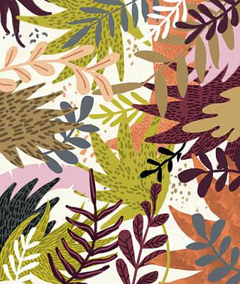 Digital Art - Earthy Forest-v2 by Uma Gokhale