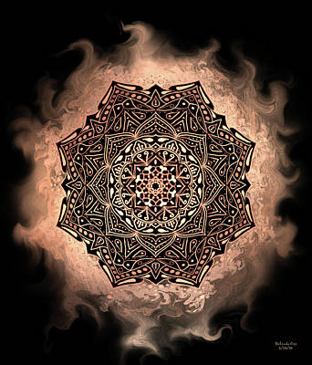 Digital Art - Earthy Mandala by Artful Oasis