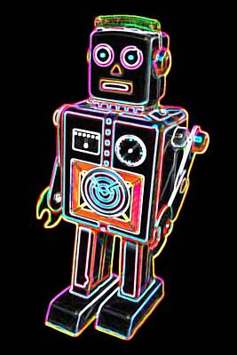 Easel Back Robot Art Print by DB Artist