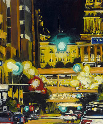 Painting - East 13th And Locust St Des Moines by Robert Reeves