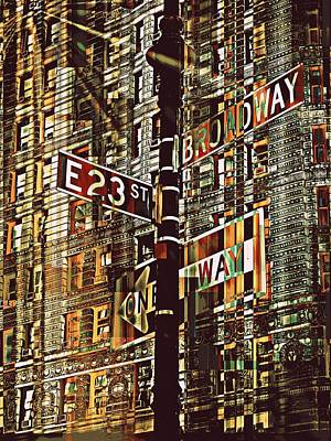 East 23rd And Broadway Art Print by Teodoro De La Santa