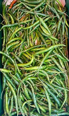 Photograph - East African Green Chillies by Mudiama Kammoh