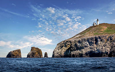 Photograph - East Anacapa Island And Lighthouse by Endre Balogh