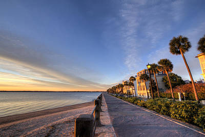 East Battery Row Charleston South Carolina Sunrise Original by Dustin K Ryan