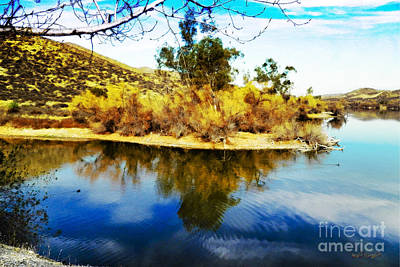 Art Print featuring the photograph East Bay, Canyon Lake, Ca by Rhonda Strickland
