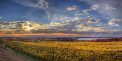 Winery Photograph - East Bay From Old Mission Peninsula by Twenty Two North Photography