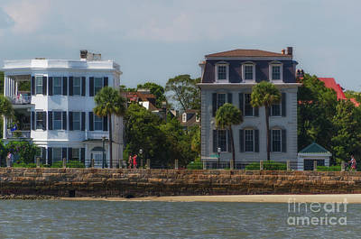 Photograph - East Bay Street Battery Homes In Charleston South Carolina by Dale Powell