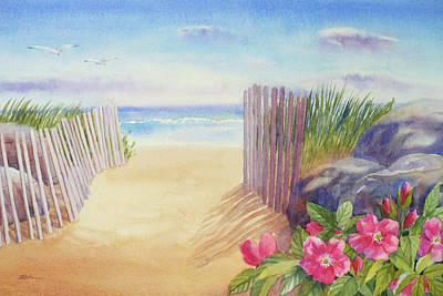 Painting - East Beach II by Janet Zeh