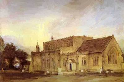 Painting - East Bergholt Church 1811  by Constable John