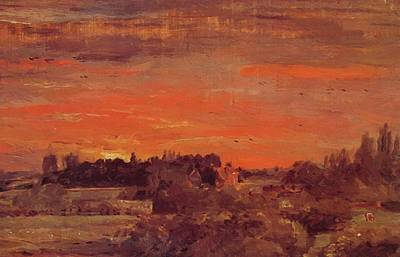 Painting - East Bergholt Rectory 1810 by Constable John