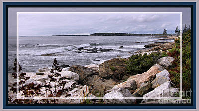East Boothbay, Maine Ocean View, Framed Art Print by Sandra Huston