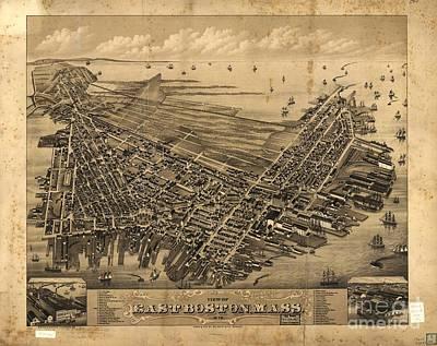 Boston Drawing - East Boston, Mass. 1879 by Baltzgar