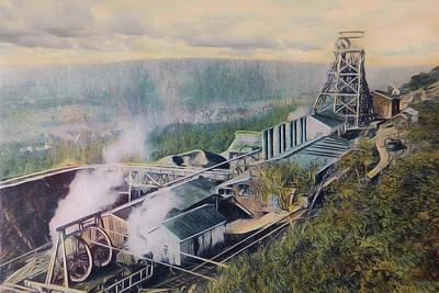 East Brookside Mine Shaft Art Print by Lori Deiter