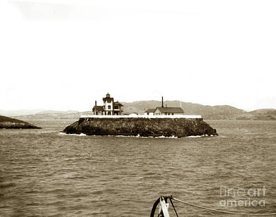 Photograph - East Brother Island Lighthouse Circa 1890 by California Views Mr Pat Hathaway Archives