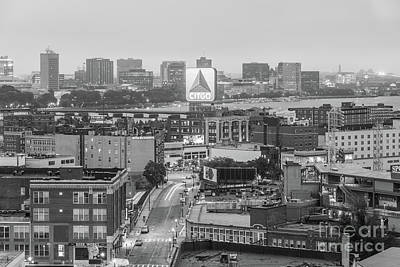 Fenway Park Photograph - East Cambrdige Boston Skyline Aerial Citgo Sign Photo by Paul Velgos