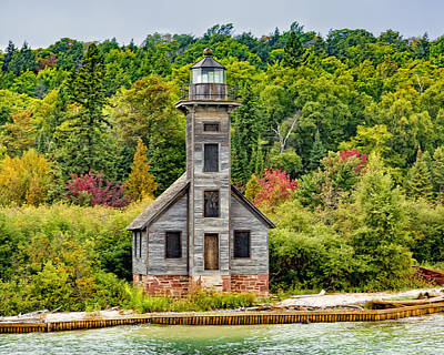 Photograph - East Channel Lighthouse Grand Island by Jack R Perry