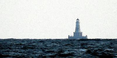 Photograph -      East Charity Shoal Light Image by Dennis McCarthy