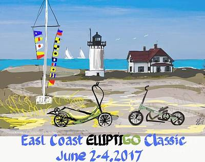 Painting - East Coast Elliptigo Classic  Opus 3 by Francois Lamothe