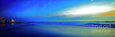 Photograph - East Coast Florida Daytona Beach Morning Walkers  3030300173 by Tom Jelen