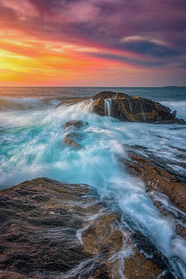 Pemaquid Point Photograph - East Coast Light Flow by Darren White