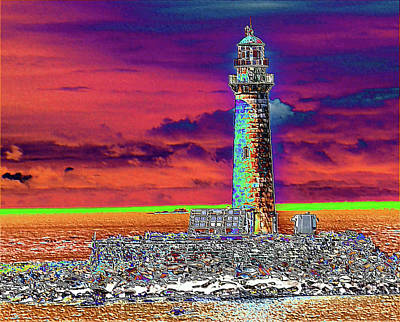 Digital Art - East Coast Lighthouse Digital by Charles HALL