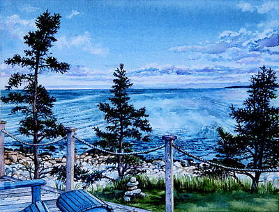 Nova Scotia Wall Art - Painting - East Coast Ocean View by Hanne Lore Koehler