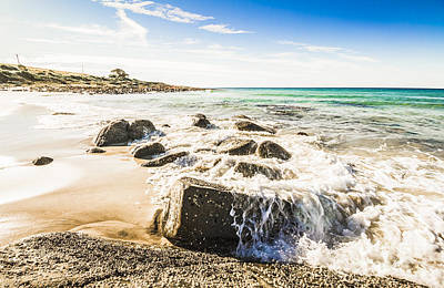 Hot Creek Photograph - East Coast Of Tasmania Seascape by Jorgo Photography - Wall Art Gallery