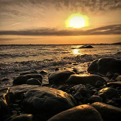 Ocean Sunset Wall Art - Photograph - East Coast Sunset 1 by Christine Sharp
