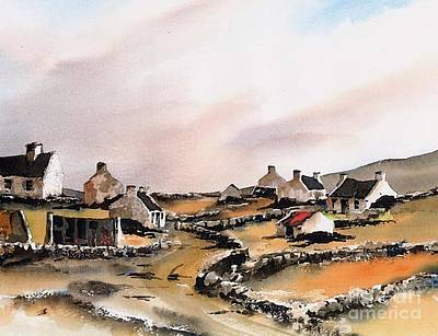 Painting - East End Inishboffin  by Val Byrne