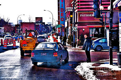 Montreal Street Life Photograph - East End Montreal by Reb Frost