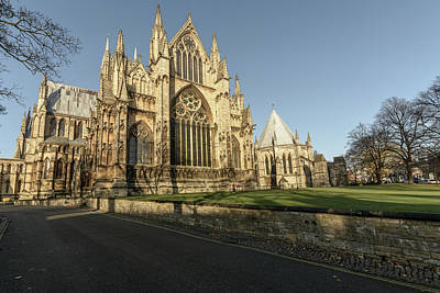 Photograph - East Facade Of Lincoln Cathedral by Jacek Wojnarowski
