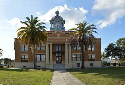 Photograph - East Facade Of The Citrus County Courthouse by rd Erickson