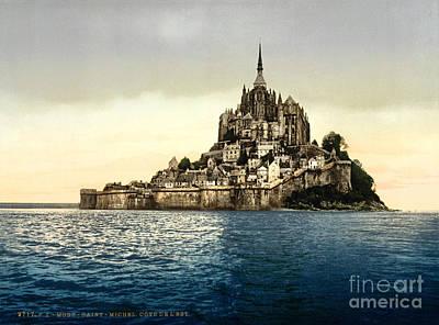 Painting - East Face Mont-saint-michel by Celestial Images