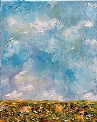 Painting - East Field Seedlings by Judith Rhue