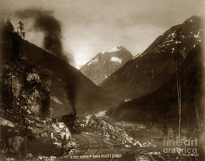 Photograph - East Fork From Rocky Point Alaska  H. C. Barley Photo 1899 by California Views Archives Mr Pat Hathaway Archives