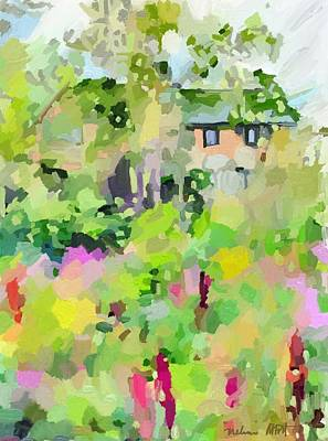 Painting - East Gloucester, Ma Stucco House by Melissa Abbott